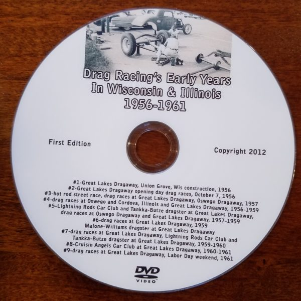 Vintage Drag Racing Video Disc 1956-1961